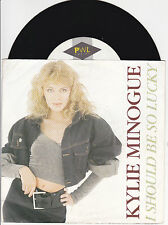"45T 7"" KYLIE MINOGUE 2T I SHOULD BE SO LUCKY ALLEMAGNE"