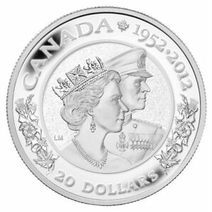 Queen-039-s-Diamond-Jubilee-Double-Effigy-2012-Canada-20-Fine-Silver-Coin