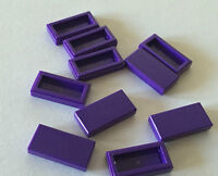 100 Pieces Lego Smooth Tile 1x2 Purple Bulk