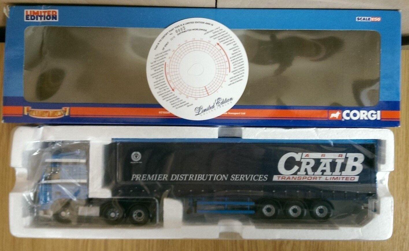 Corgi CC13228 DAF XF Space Cab Curtainside A.R.R. Craib Ltd Ed No. 0002 of 2210