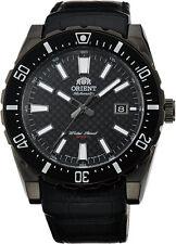 Orient FAC09001B Men's Nami Black Dial Leather Band 200M Automatic Dive Watch