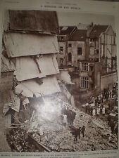 Photo article building collapse Rue de la Loi Brussels Belgium 1962 ref Z4
