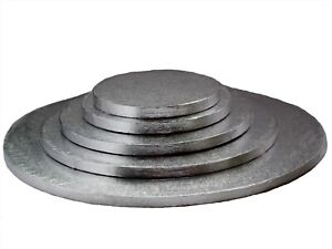 Cake-Boards-Base-DRUM-120MM-Very-Strong-6-034-7-034-8-034-9-034-10-034-12-034-Inch-Silver-Finish