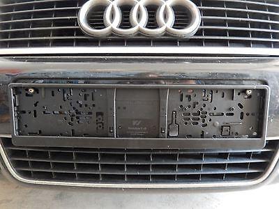 Euro size license plate holder frame black blank
