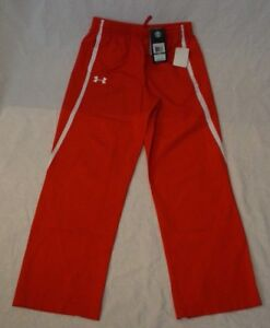 UNDER ARMOUR Youth Gear Loose Fit Red Track Pants Medium NWT