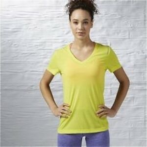 Reebok-Workout-Ready-Supremium-Tee-Size-S-Yellow-RRP-22-BNWT-AY2167