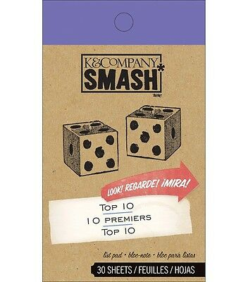 SMASH BOOK ACCESSORY PAD - TOP 10 TEN - Journaling, Scrapbooking - 30 Sheets