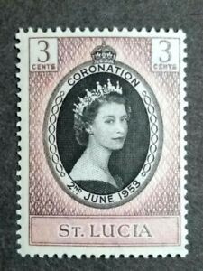 1953 St. Lucia Queen Elizabeth II Single Issue Shade / Variety Colour - 1v MNH