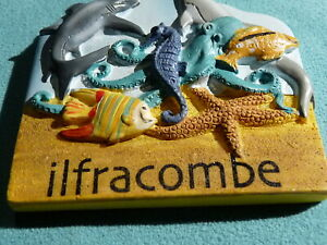 Collectable-3D-Vintage-Fridge-Magnet-Ilfracombe-Free-Postage