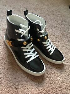 37 Versace Size Designer Details About High Medusa Women's Sneakers Patent Top Black Head WHY9ID2eEb