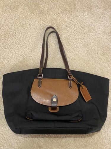 Dooney And Bourke Black Pocket Shopper Tote Bag