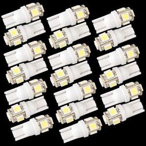 20X-T10-5-LED-5050-SMD-168-194-W5W-Bombilla-Iluminacion-Coche-T5