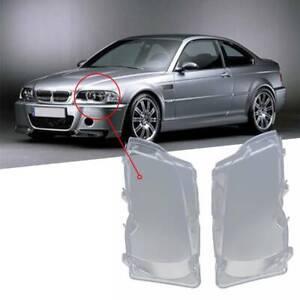 2-VITRE-DE-FEUX-PHARE-AVANT-BMW-SERIE-3-E46-BERLINE-PHASE-2002-2005