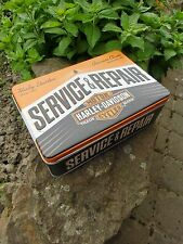 Official HARLEY-DAVIDSON Motorcycles Service & Repair Tin Storage / Lunch Box