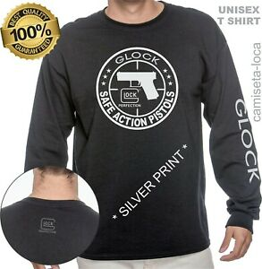 GLOCK PERFECTION HANDGUN PISTOL T SHIRT - LONG SLEEVE  CUSTOM  UNISEX TEE