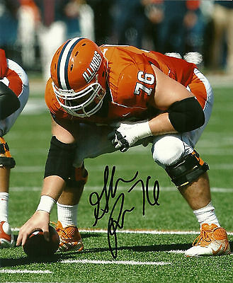 College-ncaa Graham Pocic Hand Signed Illinois Fighting Illini 8x10 Photo W/coa Various Styles Autographs-original