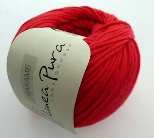 Fideos-50g-de-lana-Grossa-linea-pura-FB-012-rojo