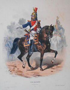 Lithographie Originale -type Mlilitaire - Garde De Paris - H.lalaisse - Napoléon