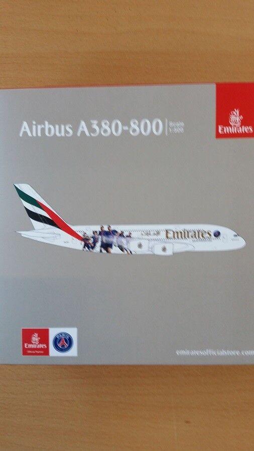 Herpa 529440 - 1 500 Airbus a380-EMIRATES-Paris St Germain-NEUF