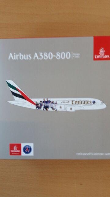Herpa 529440-1/500 Airbus A380 - Emirates - Paris st Germain - Nuevo