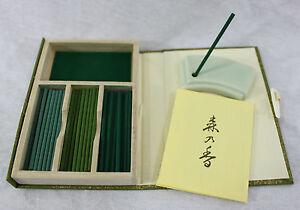 Nippon-Kodo-Incenso-Giapponese-Mori-No-Kaori-60-Bastoncini-Cofanetto-Porta
