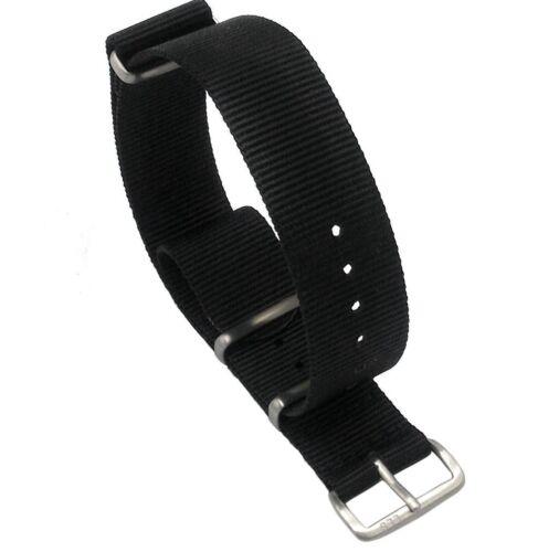 ds Cinturino In Nylon Universale Ricambio Per Orologio Larghezza 20mm Nero lac