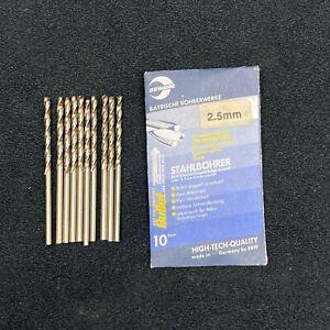 10 BBW Germany 2.5mm Hss-G Proiettile Trapano Punte. Metallo,Acciaio,Alluminio