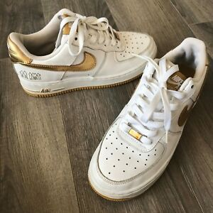Details about RARE! 2006 Nike Air Force 1 '07 Players WhiteMetallic Gold 314192 171 Size 6Y