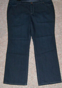 5009682ed5c Details about DAISY FUENTES Blue Denim Straight Leg Mid-Rise Jeans Inseam  34 Long Size 24W