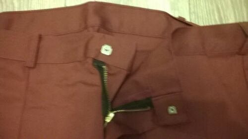 """Long leg 4 x joblot mens burgundy work wear trousers workwear 28/"""" waist TR270"""