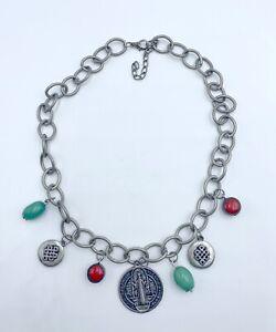 Collar-mujer-con-medalla-de-san-Benito-nuevo-amuleto-proteccion-buena-suerte