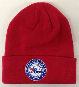 997e8d75e86 Image is loading NBA-Philadelphia-76ers-Adidas-Cuffed-Winter-Knit-Hat-