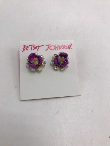 $25 Betsey Johnson Granny Chic Purple Flower BKK4
