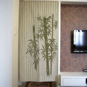Classical Green Bamboo Pattern Hanging Door Curtain Room Divider Japanese Noren Ebay