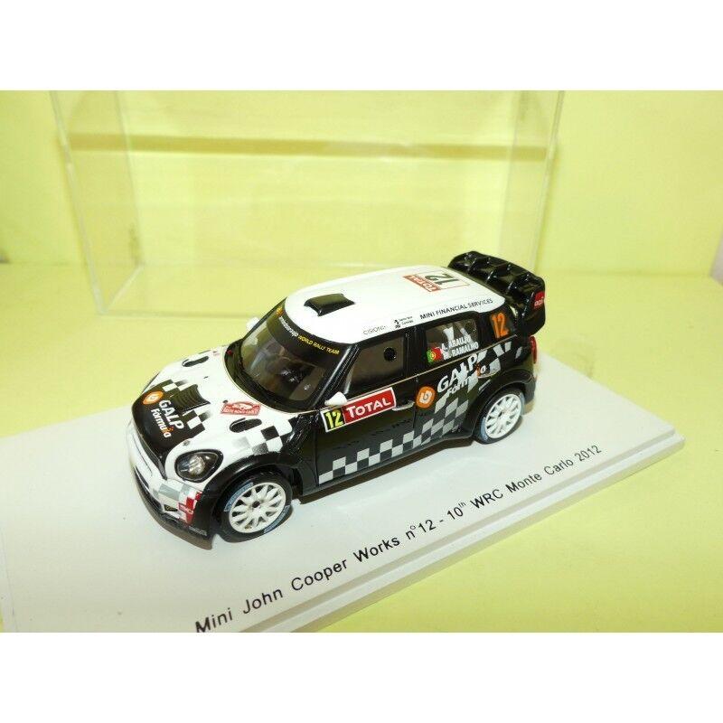 MINI COOPER WRC N°12 RALLYE MONTE CARLO 2012 ARAUJO SPARK 1 43 10ème