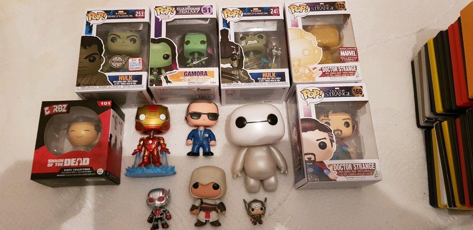 Funko pop bundle Hulk Marvel Dr Strange Baymax Antman Gamora Altair Ironman