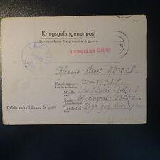 LETTRE COVER ALLEMAGNE PRISONNIER DE GUERRE CAMP OFFIZIERLAGER VIII F 31.12.1942