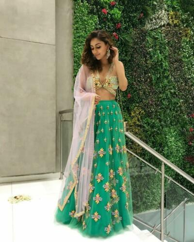 Designer Lehenga Choli reception Wearing Lengha Indian Pakistani Wedding NET