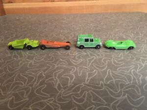 Vintage-Diecast-Metal-Toy-Car-Mixed-Lot-of-4