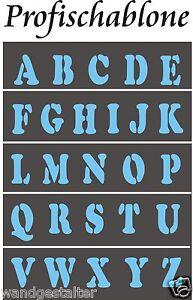 Malerschablone<wbr/>n, Buchstaben, Schriftschablo<wbr/>nen A-Z, Großbuchstaben 2-20cm