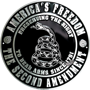 AMERICA-039-S-FREEDOM-THE-SECOND-AMENDMENT-12-034-ROUND-METAL-SIGN-TO-BEAR-ARMS-1791