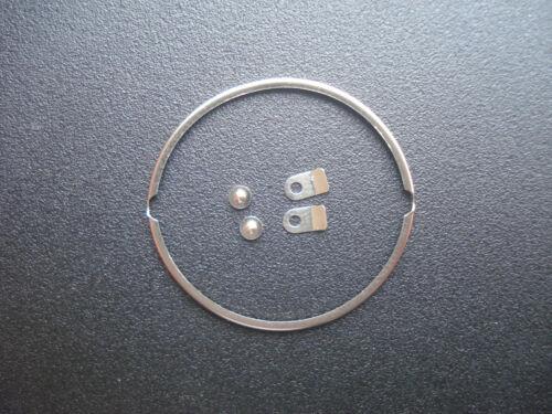A SET ORIGINAL STEEL DIAL MOVEMENT SPACER RING & SCREWS & TABs FOR ETA 2836 2824