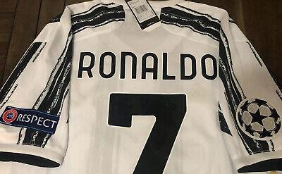 Cristiano Ronaldo Cr7 Juventus 2020 2021 Home Jersey Champions League Ebay