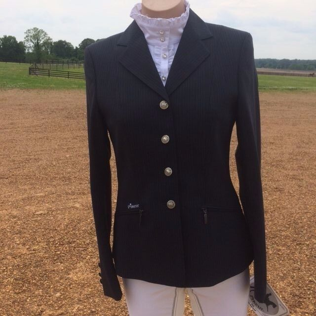 CLEARANCE  Pikeur Skarlett Show Coat in Navy Pinstripe  100% genuine counter guarantee
