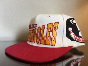 New-OG-Vintage-90s-Apex-One-Florida-State-Seminoles-Big-Logo-Hat-sz-7-1-8-White