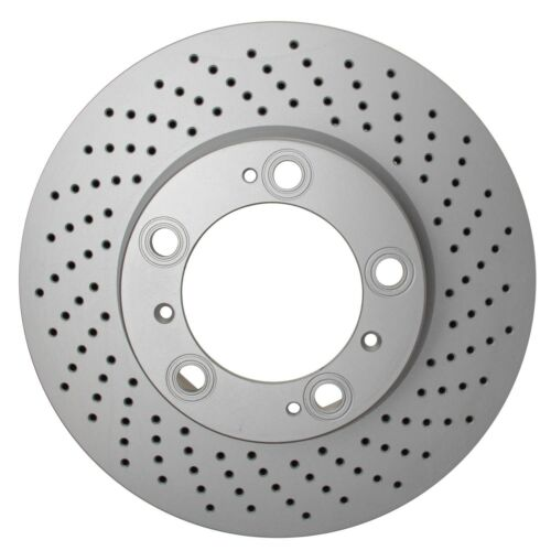 Right 318mm Vented /& X-Drilled Disc Brake Pagid For Porsche 987 997 Front Pass