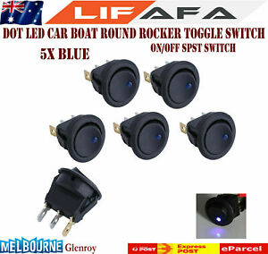 5X-Dot-LED-Light-12V-16A-Auto-Car-Round-Boat-Rocker-On-Off-Toggle-SPST-Switch-M1
