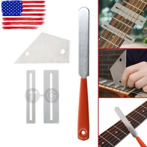 Guitar-Fret-Crowning-File-Leveling-Grinding-Tool-Shim-Kit-For-Guitarist-Luthier