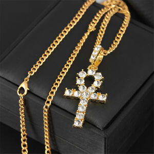 26-034-Hip-Hop-Gold-Plated-Egypt-Ankh-Cross-Key-Pendant-Necklace-Chain-Jewelry