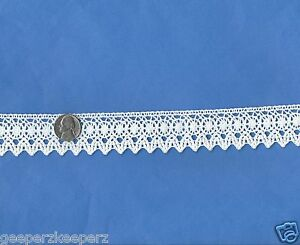 Cluny-Style-Cotton-Lace-Trim-WHITE-Dolls-Bears-Quilts-Decor-NEW-1-1-4-034-BTY
